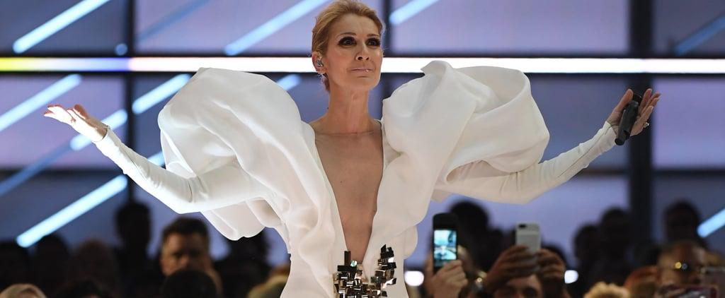 Celine Dion's Gown Came With Wings Because She Has the Actual Voice of an Angel