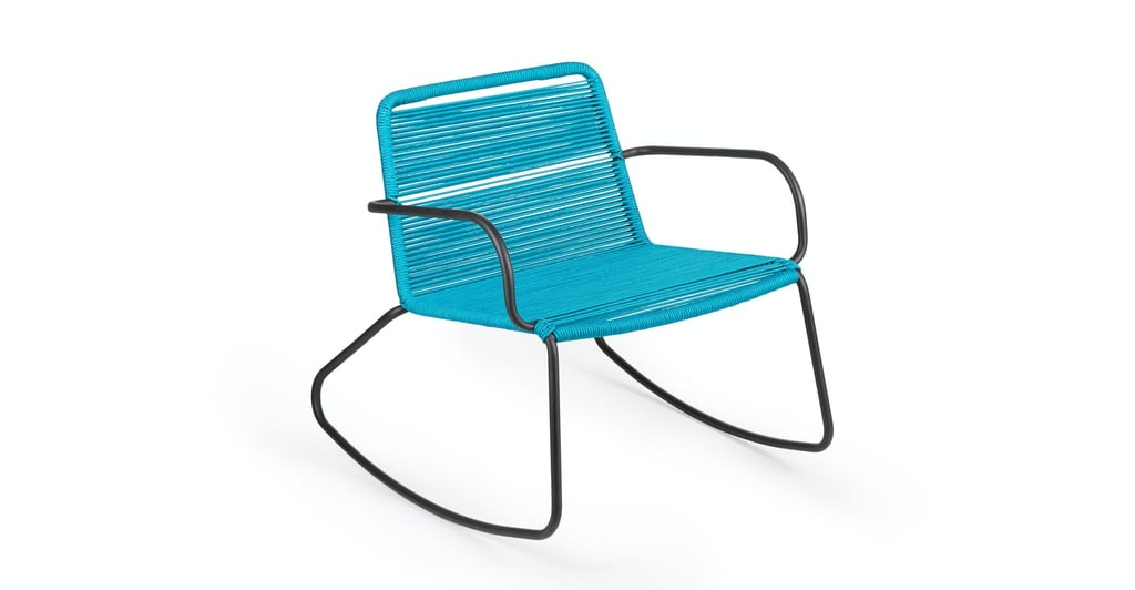 Article Mirow Deep Aqua Rocking Chair