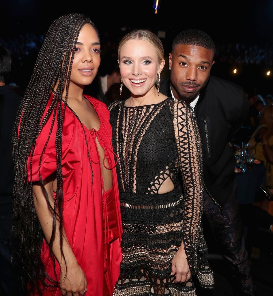 Tessa Thompson, Kristen Bell, and Michael B. Jordan