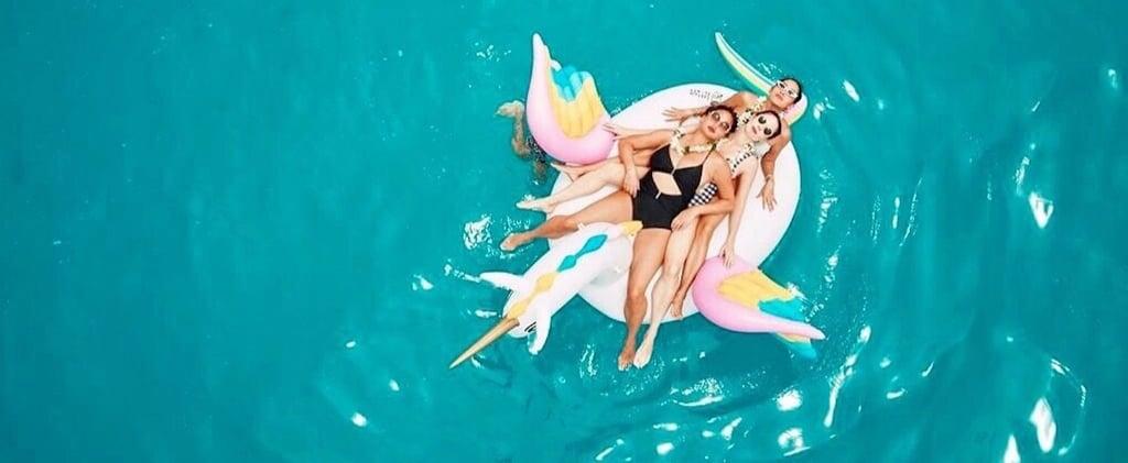 Chrissy Teigen's Black One-Piece Swimsuit