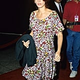 In a dressed-down floral mini and ankle boots, Julia could have easily pioneered the cool-girl aesthetic we've all spent years trying to perfect.