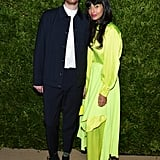 Jameela Jamil's Neon Outfit at the CFDA Awards