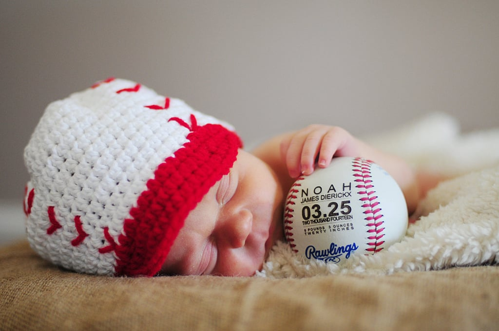 Embroidered baseball personalized birth announcement baby gifts embroidered baseball negle Images