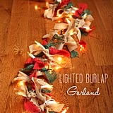 Colorful Burlap Garland