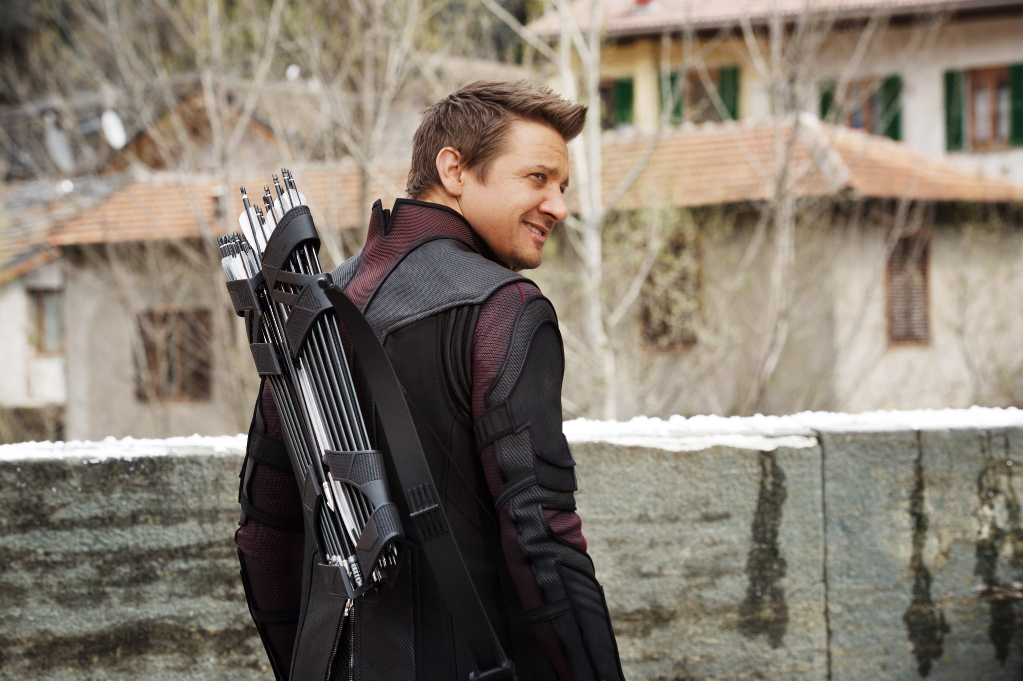 AVENGERS: AGE OF ULTRON, Jeremy Renner as Hawkeye/Clint Barton, 2015. ph: Jay Maidment /  Walt Disney Studios Motion Pictures / courtesy Everett Collection