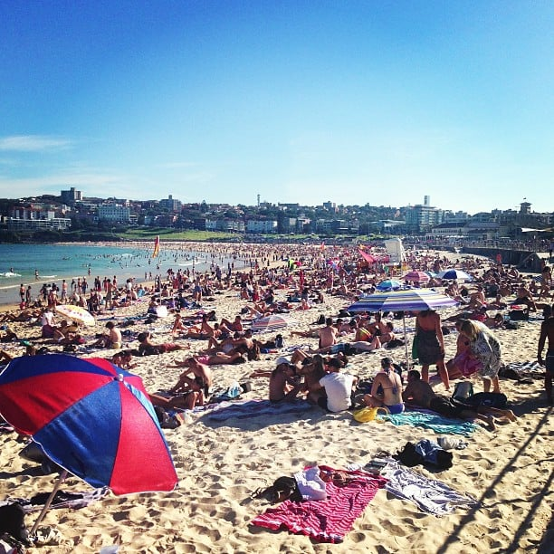 Bondi beach — the place to be on a sunny Autumn Sunday, it seems!