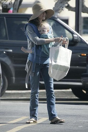Actress Keri Russell and son River Deary were out running errands in Pacific Palisades.