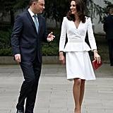 She Wore a White Alexander McQueen Coat