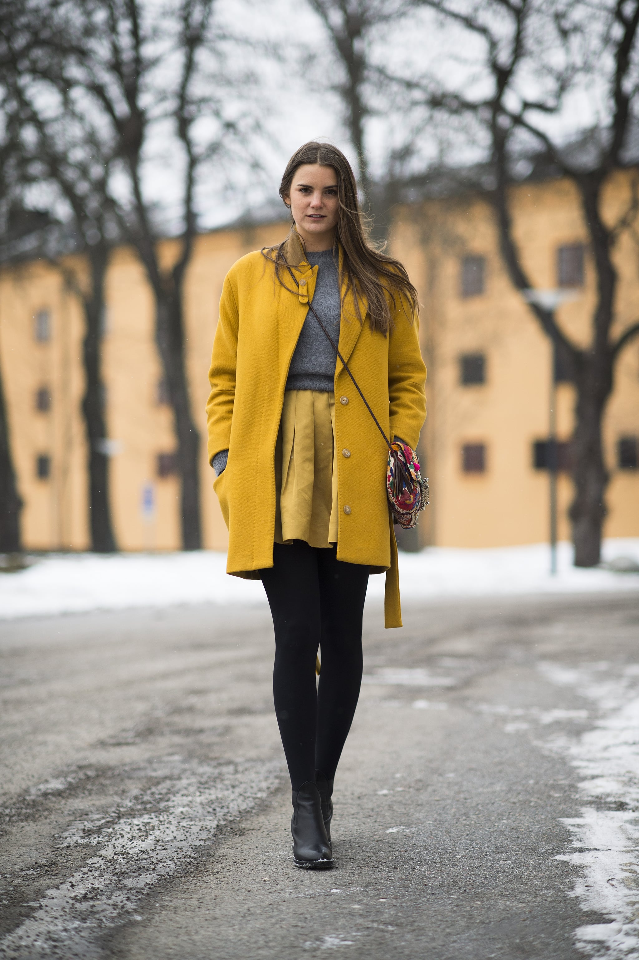 We can't take our eyes off her bright separates.  Source: Le 21ème | Adam Katz Sinding