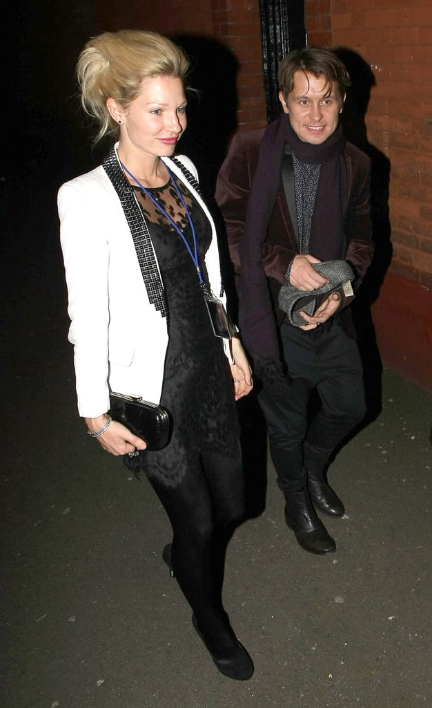Mark Owen and his wife Emma were among the celebs out to watch and take part in Gary Barlow's 40th birthday concert at Shepherd's Bush Empire last night. Gary took to the stage with Mark and Chris Martin among others during the two hour concert, and guests including James Corden, Chris Moyles, Andrew Lloyd Webber, Lulu, Ellie Goulding, Kimberley Walsh and Take That's Jason Orange were part of the crowd. Robbie Williams appeared with a recorded message, and Gary cleared up yesterday's news stories about him seeing Take That as a four-piece, by saying he knows that Robbie is still interested in his solo career, but he loves working with the lads whether there's four or five of them. This isn't too surprising as when the band reunited they stated it was just for a tour and an album. All proceeds from GB40 went to charity, and the event was broadcast live on Radio 2 — you can listen again here.