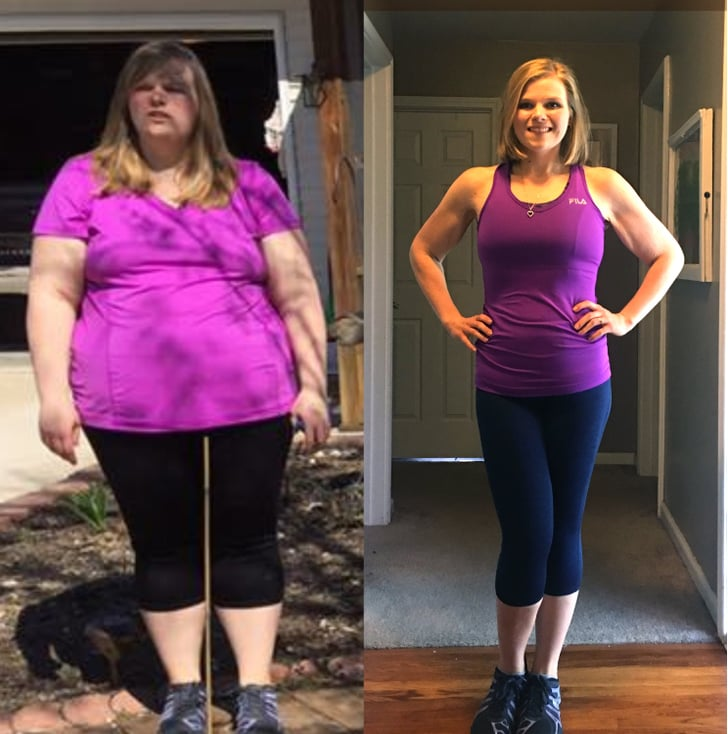 before and after weight loss rachelle hosick popsugar fitness. Black Bedroom Furniture Sets. Home Design Ideas