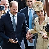 Kate and Will held hands as they attended the secretary of state's annual Garden party in Belfast, Northern Ireland, in June 2016.