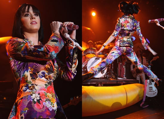 Katy Perry in Basso and Brooke Bright Suit