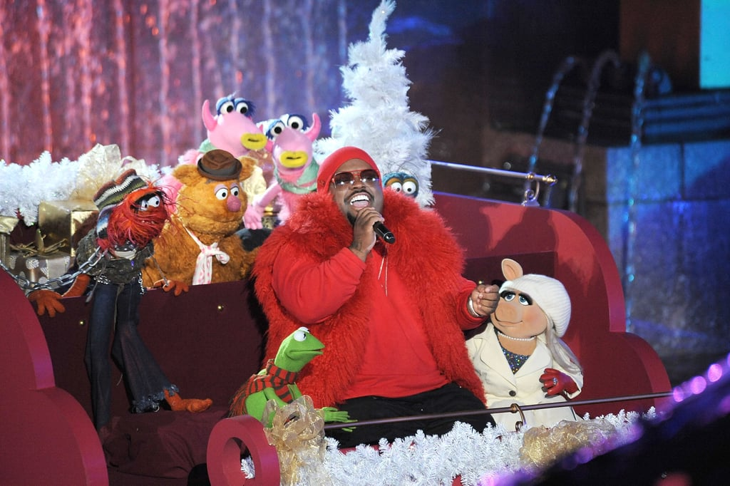 Cee-Lo Green sang with the Muppets during the taping of the Rockefeller Center Christmas tree lighting in NYC.