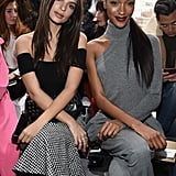 Emily Ratajkowski and Jourdan Dunn at Michael Kors
