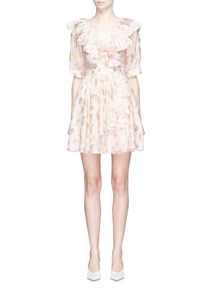 c793466c6e1e Temperley London  Riviera  ruffle graphic jacquard mini dress ...