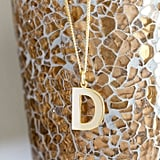 Christopher James of London 9ct Yellow Gold Block Initial Pendant