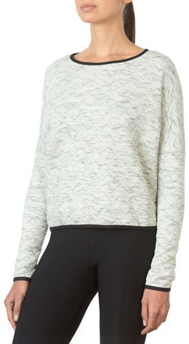 MPG Zine Cropped Reversible Jacquard Sweatshirt