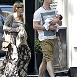 Chris Hemsworth and Elsa Pataky took baby India out in London.