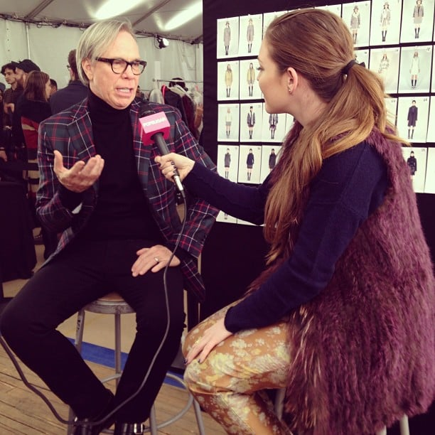 We interviewed Tommy Hilfiger before his Fall '13 show.