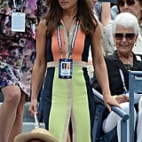 On Tuesday Sept. 4, Pippa wore a multicolour Paper London Rayleigh dress with Bosworths sunglasses in Rosewood from Finlay & Co.