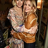 Sienna attended a private dinner to celebrate Savannah's 2017 bridal collection in London.