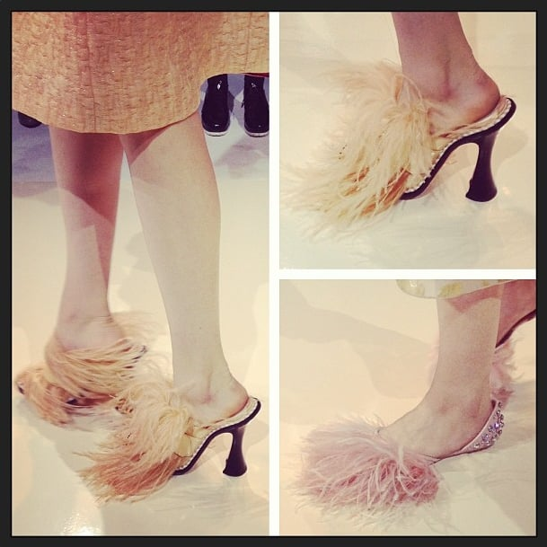 Things got fluffy (and possibly ticklish) at Rochas. Source: Instagram user afoxman