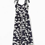 Urban Outfitters Positano Tie-Shoulder Midi Dress