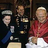 It was all smiles when the pair met Pope John Paul II on Oct. 17, 1980, in Rome.