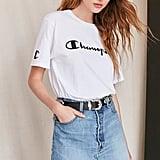 Urban Notched Denim Mini Skirt