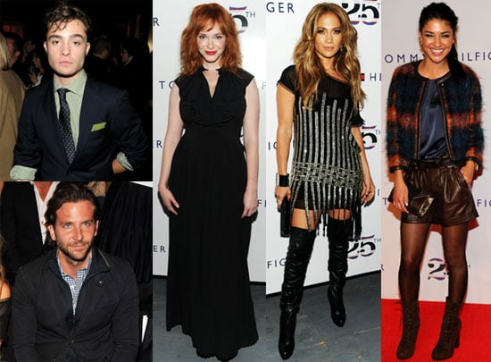 Beyonce, Jennifer Lopez, Ed Westwick and Jessica Szohr at 2011 Spring New York Fashion Week