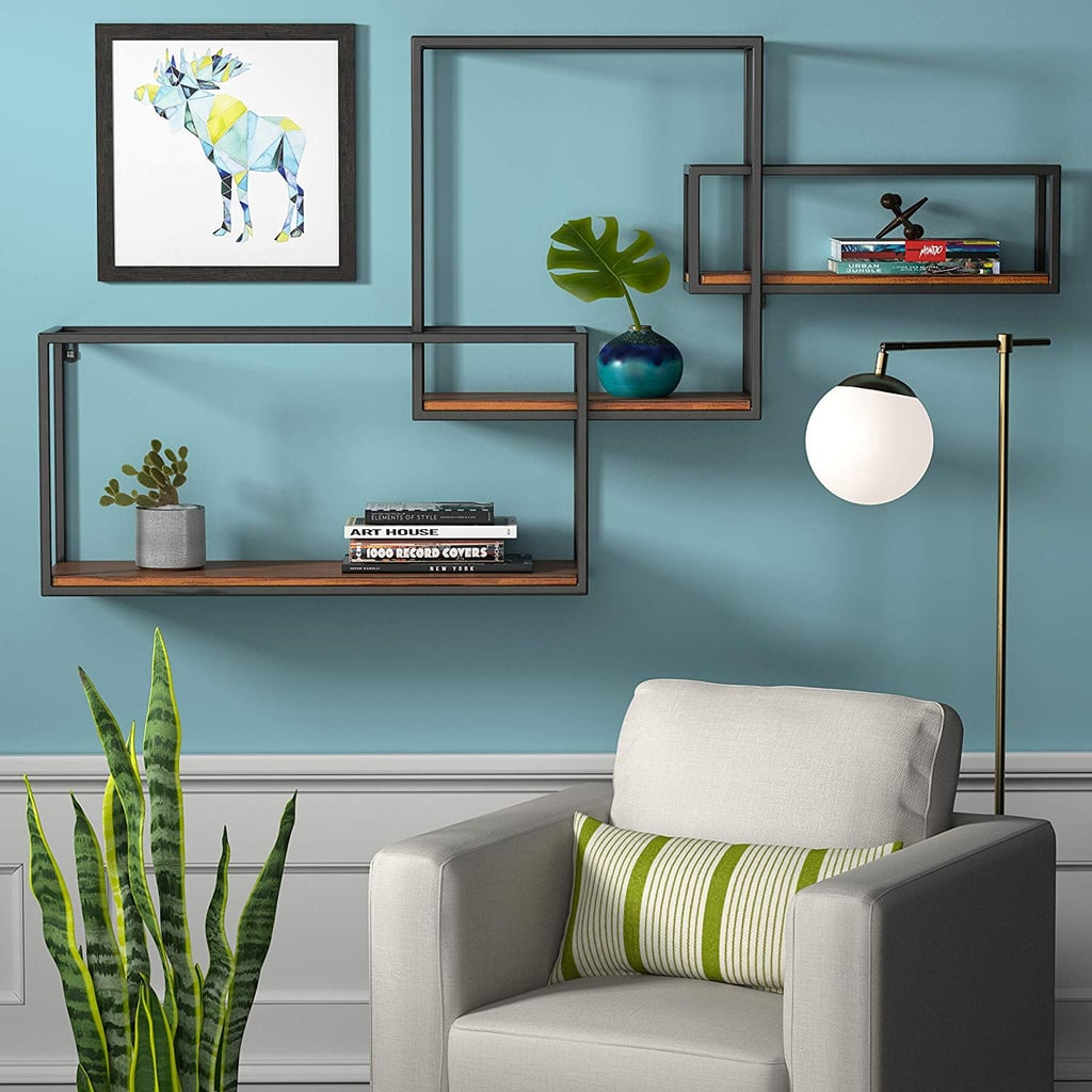 Rivet Contemporary Cubic Iron 3-Shelf Floating Unit