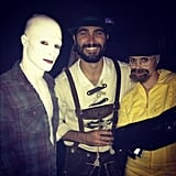 Teen Wolf's Colton Haynes appears to be dressed as Powder, while one of his friends was Walt from Breaking Bad! Source: Instagram user coltonlhaynes