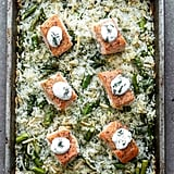 Sheet Pan Salmon and Rice