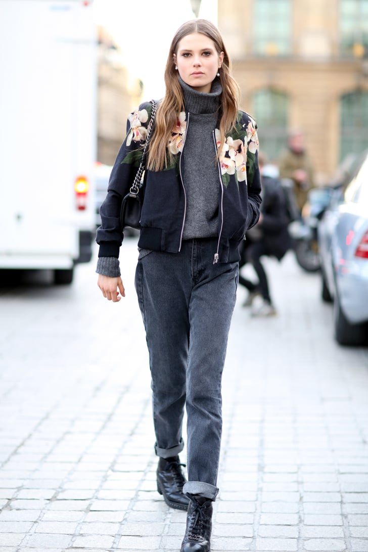 Pfw Model Street Style Day Two Model Street Style At