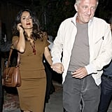 Francois-Henri Pinault and Salma Hayek left the Little Door.