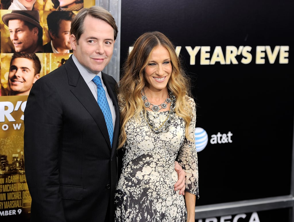 Matthew Broderick accompanied his wife, Sarah Jessica Parker, to the screening.