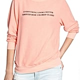 Wildfox Rosé Glasses Beach Sweatshirt