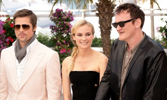 Photos of Brad Pitt, Diane Kruger, Quentin Tarantino at Inglourious Basterds Photocall at Cannes Film Festival
