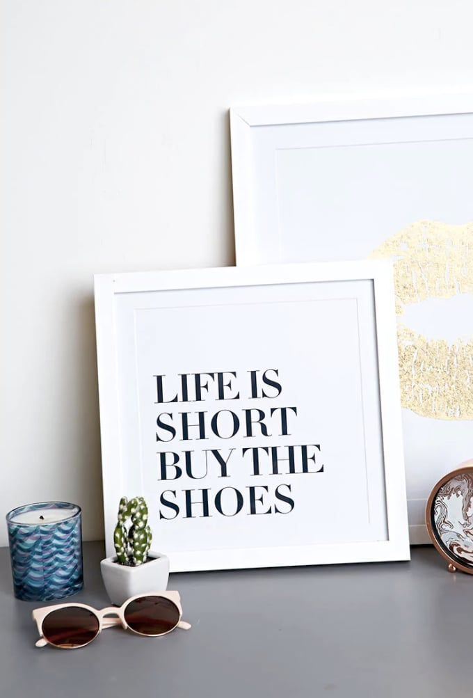 Forever 21 Life Is Short Wall Decor