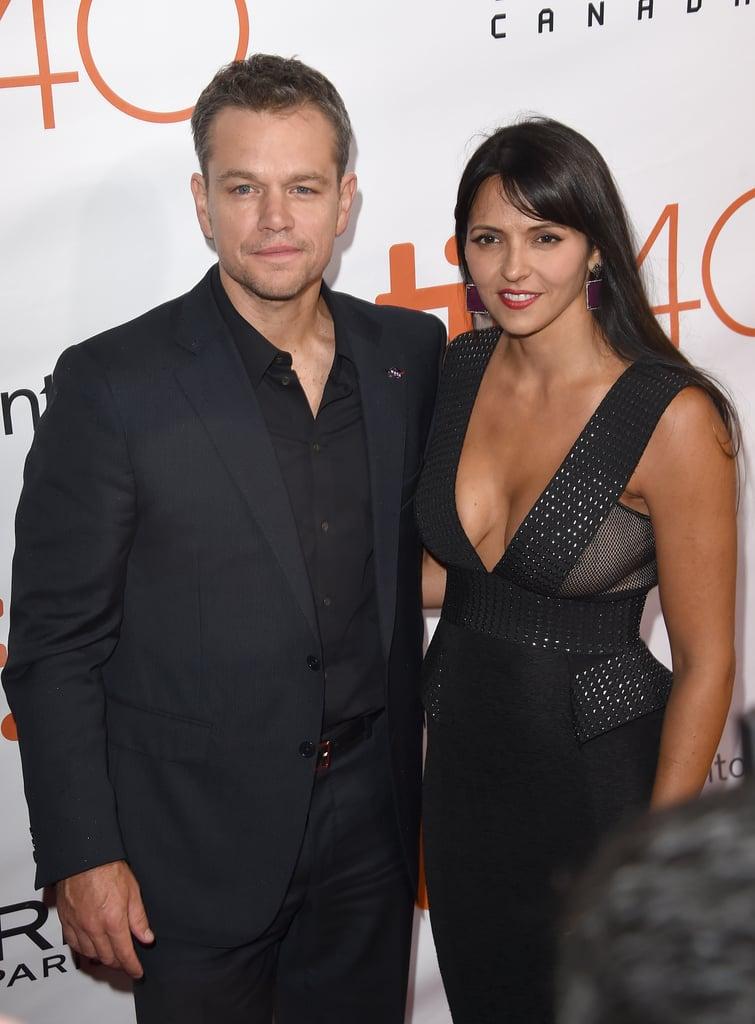 Matt Damon and Luciana Barroso at the TIFF 2015 | POPSUGAR Celebrity