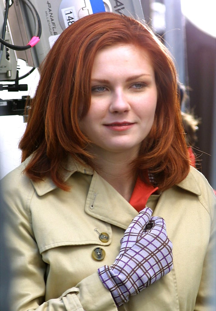as mary jane in the spider man series kirsten dunst dyed her