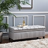 Christopher Knight Home Laguna Tufted Fabric Storage Ottoman