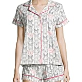 Butterfly-Print Shorty Pajama Set ($89, originally $130)