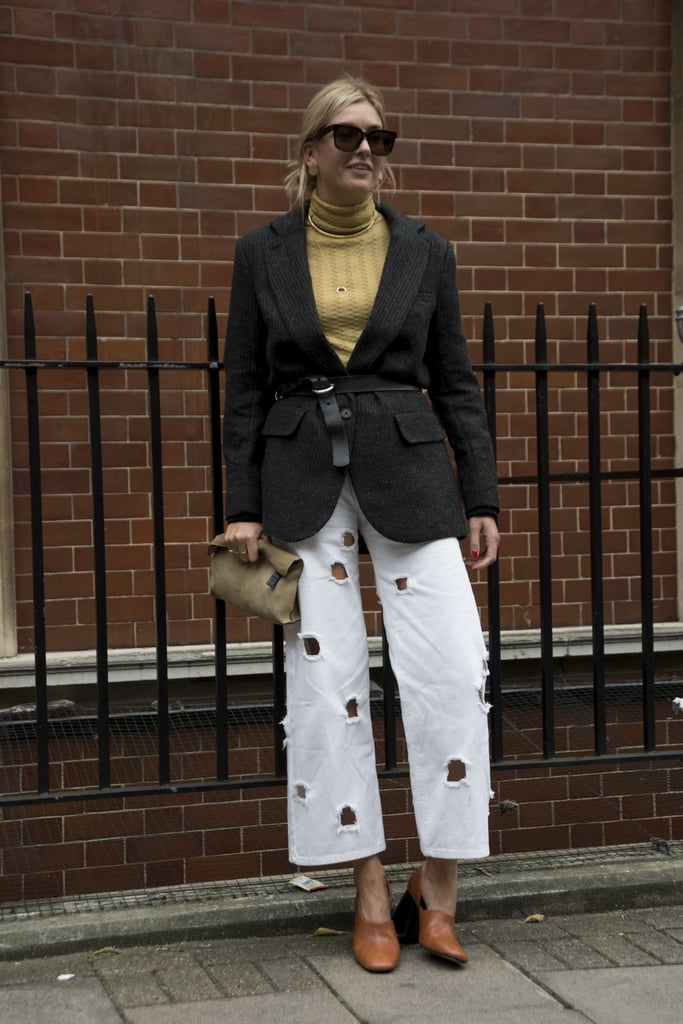 In a creative cut that livens up your basics