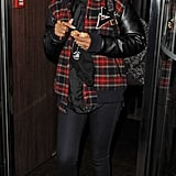 Rihanna got a jumpstart on the plaid fad donning a printed Joyrich varsity jacket in November 2012.