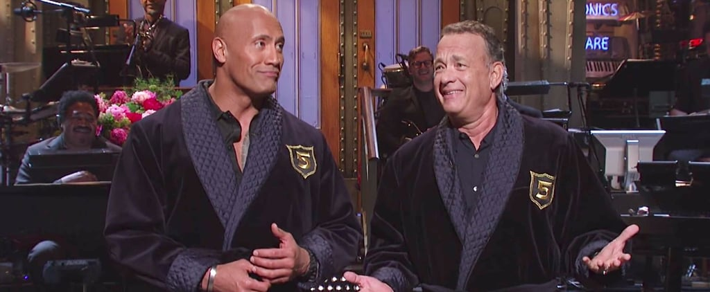 Dwayne Johnson and Tom Hanks SNL Monologue 2017