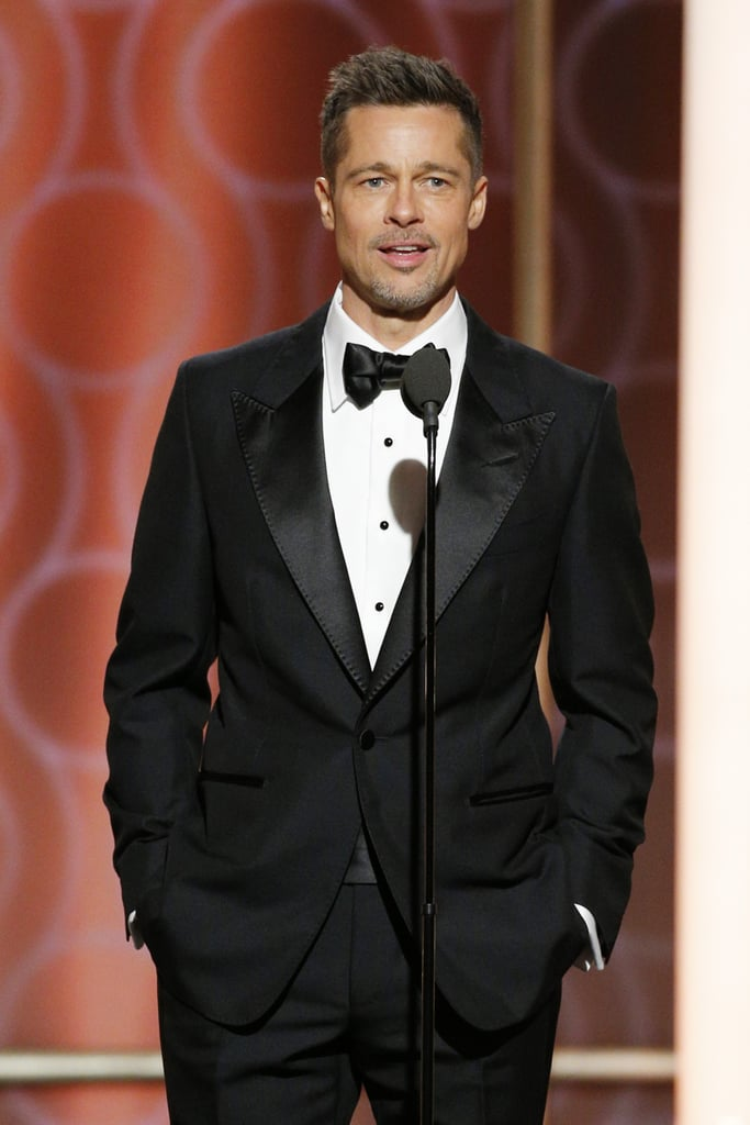 Brad surprised the crowd (and our hormones) when he hit the stage at the Golden Globes in January.