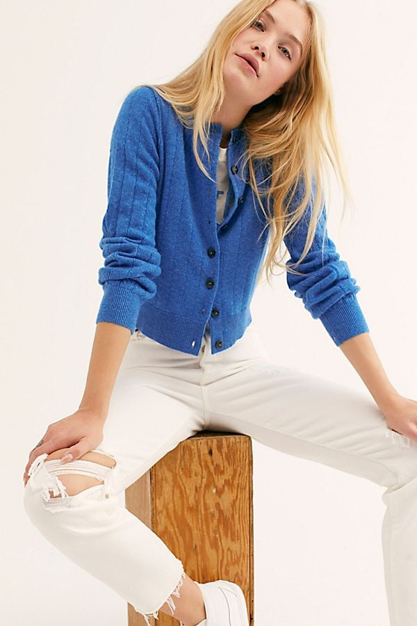 Free People Everyday Cashmere Cardi