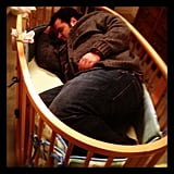 Josh Gad got a little tuckered out working on 1600 Penn. Source: Instagram user realjoshgad